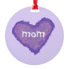Pastel Mom Heart Ornament (Round)