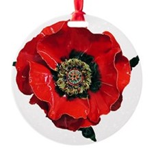 Poppy Ornament (Round)