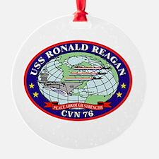 USS Ronald Reagan CVN-76 Ornament (Round)