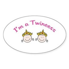 I'm a Twincess Oval Decal
