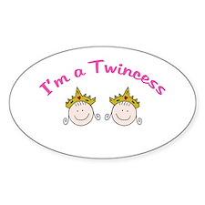 I'm a Twincess Oval Stickers