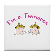 I'm a Twincess Tile Coaster