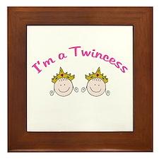 I'm a Twincess Framed Tile