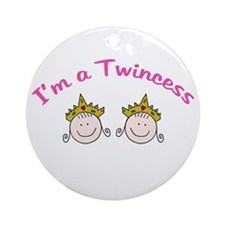 I'm a Twincess Ornament (Round)