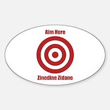 Aim Here Zidane (Sticker Oval)