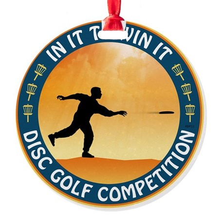 Disc Golf Competition Ornament (Round)