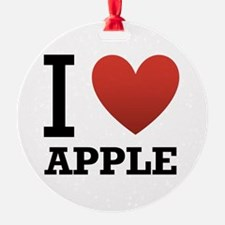 I Love Apple Ornament (Round)