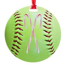 Christmas Softball Ornament (Round)