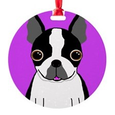 Boston Terrier (Black) Ornament (Round)