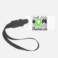 Lymphoma Typographic Faith Love Hope.png Luggage Tag