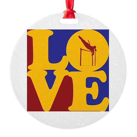 Pole Vaulting Love Ornament (Round)