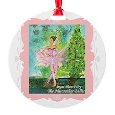Sugar Plum Fairy Ornament (Round)