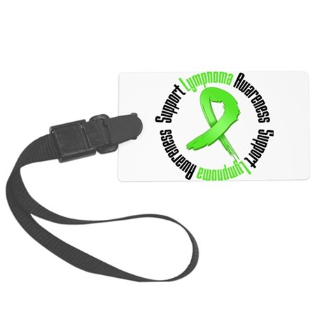Support Lymphoma Awareness.png Large Luggage Tag