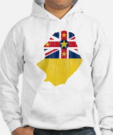 Niue Flag And Map Jumper Hoody