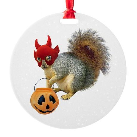 Trick or Treat Squirrel Ornament (Round)