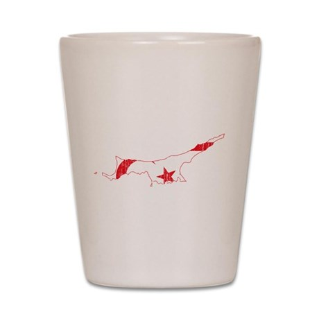 North Cyprus Flag And Map Shot Glass