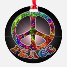 Jewelled Peace Ornament (Round)