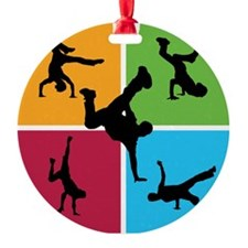 Nice various breakdancing Ornament (Round)
