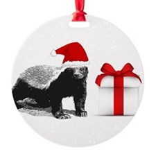honey badget santa Ornament (Round)