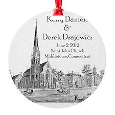 Kelly and Dereks's Wedding Ornament (Round)