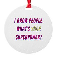 Superhero Mom Ornament (Round)