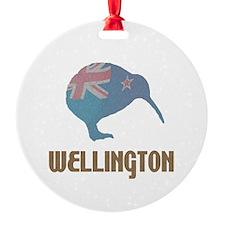 Wellington New Zealand Ornament (Round)