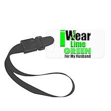 iwearlimegreen22husband.png Luggage Tag