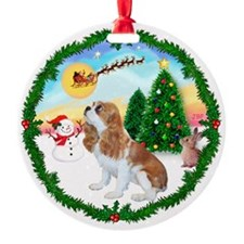 TakeOff1W-Blenheim Cavalier Ornament (Round)