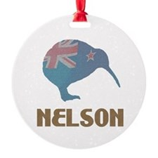 Nelson New Zealand Ornament (Round)