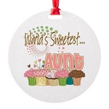 World's Sweetest Aunt Ornament (Round)