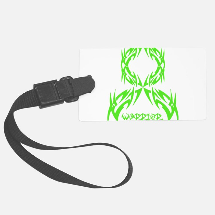 Lymphoma Cancer Mens Warrior Tribal.png Luggage Tag