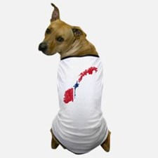 Norway Flag And Map Dog T-Shirt