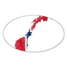 Norway Flag And Map Decal