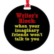 Writer's Block Ornament (Round)