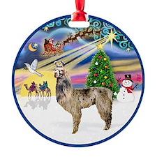 Xmas Magic - Llama #3 Ornament (Round)