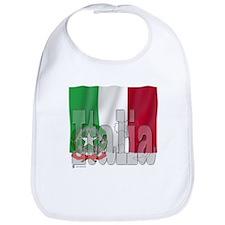 Silky Flag of Italia Bib