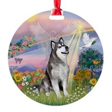 Cloud Angel - Alaskan Malamute Ornament (Round)