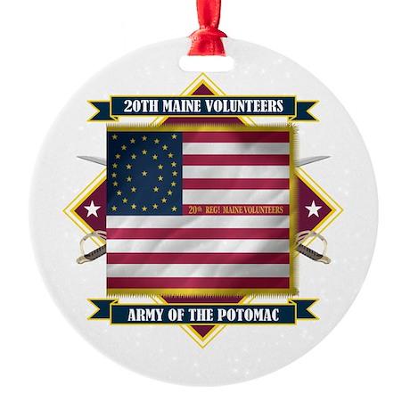 20th Maine V.I. Ornament (Round)