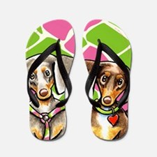 Dappled Dachshunds Wild Thing Flip Flops