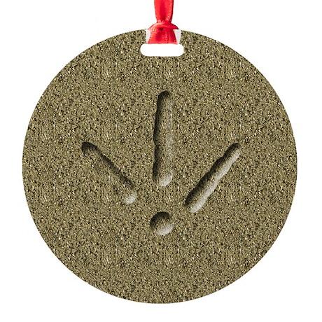 Turkey Track Keepsake Ornament