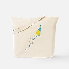 Palau Flag And Map Tote Bag