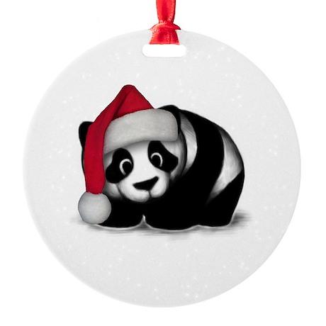 Christmas Panda Ornament (Round)