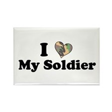 I love my Soldier Rectangle Magnet