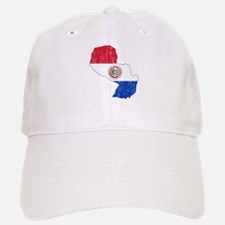 Paraguay Flag And Map Baseball Baseball Cap