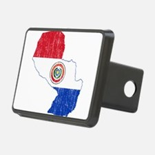 Paraguay Flag And Map Hitch Cover