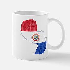 Paraguay Flag And Map Mug