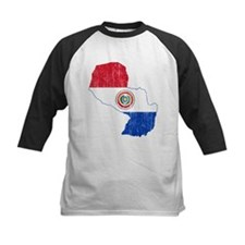Paraguay Flag And Map Tee