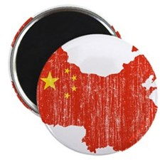 China Flag And Map Magnet
