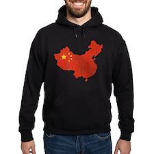 China Flag And Map Hoody
