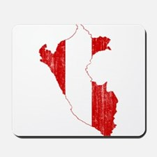 Peru Flag And Map Mousepad